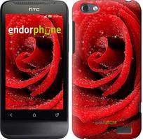 """Чехол на HTC One V t320e Красная роза """"529u-227"""""""
