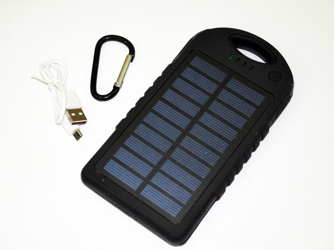 Power Bank зарядка от солнца 40000 mAh + карабин