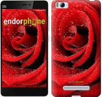 "Чехол на Xiaomi Mi4 Красная роза ""529u-163"""
