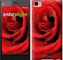 "Чехол на Xiaomi Mi3 Красная роза ""529u-170"""