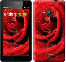 """Чехол на Microsoft Lumia 535 Красная роза """"529u-130"""""""