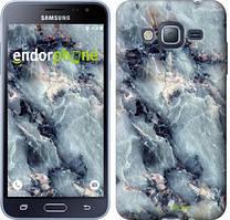 Чехол на Samsung Galaxy J3 Duos (2016) J320H Голубой, Мрамор