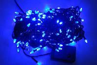 Новогодние украшения для дома ГИРЛЯНДА-КОНУС LED 200 BLUE (BLACK) K-417
