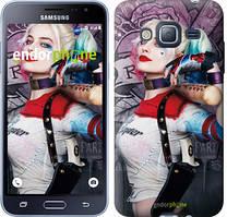 Чехол на Samsung Galaxy J3 Duos (2016) J320H Серый, Отряд самоубийц