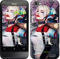"""Чехол на HTC One V t320e Отряд самоубийц """"3763u-227"""""""
