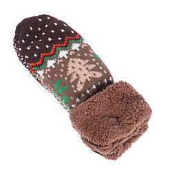 Варежки рукавицы с утеплителем флис