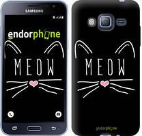 Чехол на Samsung Galaxy J3 Duos (2016) J320H Черный, Kitty
