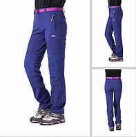 Брюки туристические женские SoftShell NatureHike фиолетовый NH01Y008-K