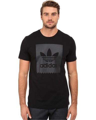 Футболка мужская с принтом Adidas solid logo