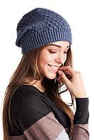 Стильная вязанная женская шапочка