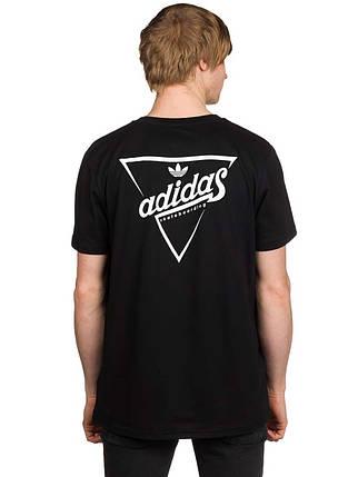 Футболка мужская с принтом adidas Originals Triangle, фото 2