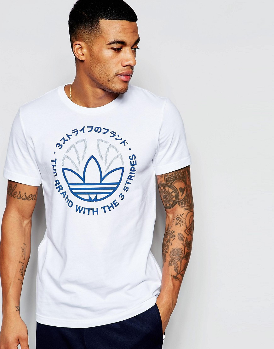 Футболка мужская стильная adidas Originals Trefoil