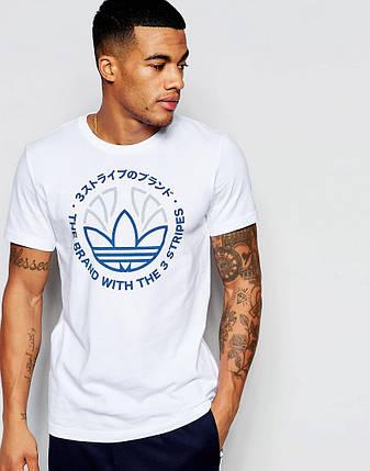 Футболка мужская стильная adidas Originals Trefoil, фото 2