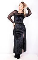 Платье велюровое 093