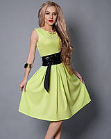 Платье для корпоратива оливкового цвета