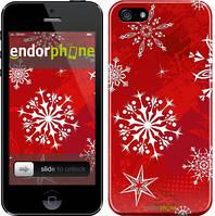 "Чехол на iPhone 5 Снежинка 2 ""3312c-18"""