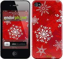 """Чехол на iPhone 4s Снежинка 2 """"3312c-12"""""""