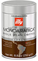 Кофе в зернах ILLY Monoarabica Brazil  250г  ж/б, фото 1
