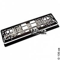 Номерная рамка под номера Elegant 100 588 металлизированная черная