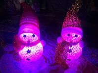 Новогодний световой снеговик