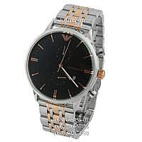 Мужские наручные часы Emporio Armani AR0389 Silver-Gold/Black