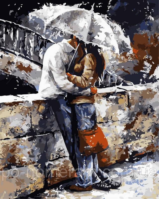 Раскраска по номерам Любовь под дождем худ Имире Тот