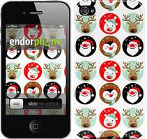 """Чехол на iPhone 4 Christmas 2 """"3849c-15"""""""