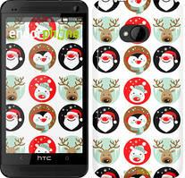 "Чехол на HTC One M7 Christmas 2 ""3849c-36"""