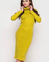 Женское теплое платье под горло (2221 sk)