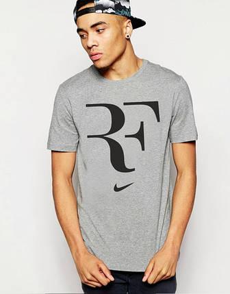 """Футболка мужская с принтом """"Найк"""" Nike Roger Federer, фото 2"""