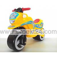 """Детская каталка """"Мотоцикл"""" желтый 74*46см"""