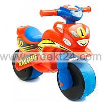 """Детская каталка """"Мотоцикл"""" оранжевый 74*46см"""