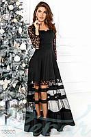 Вечернее платье сетка. Цвет черный.
