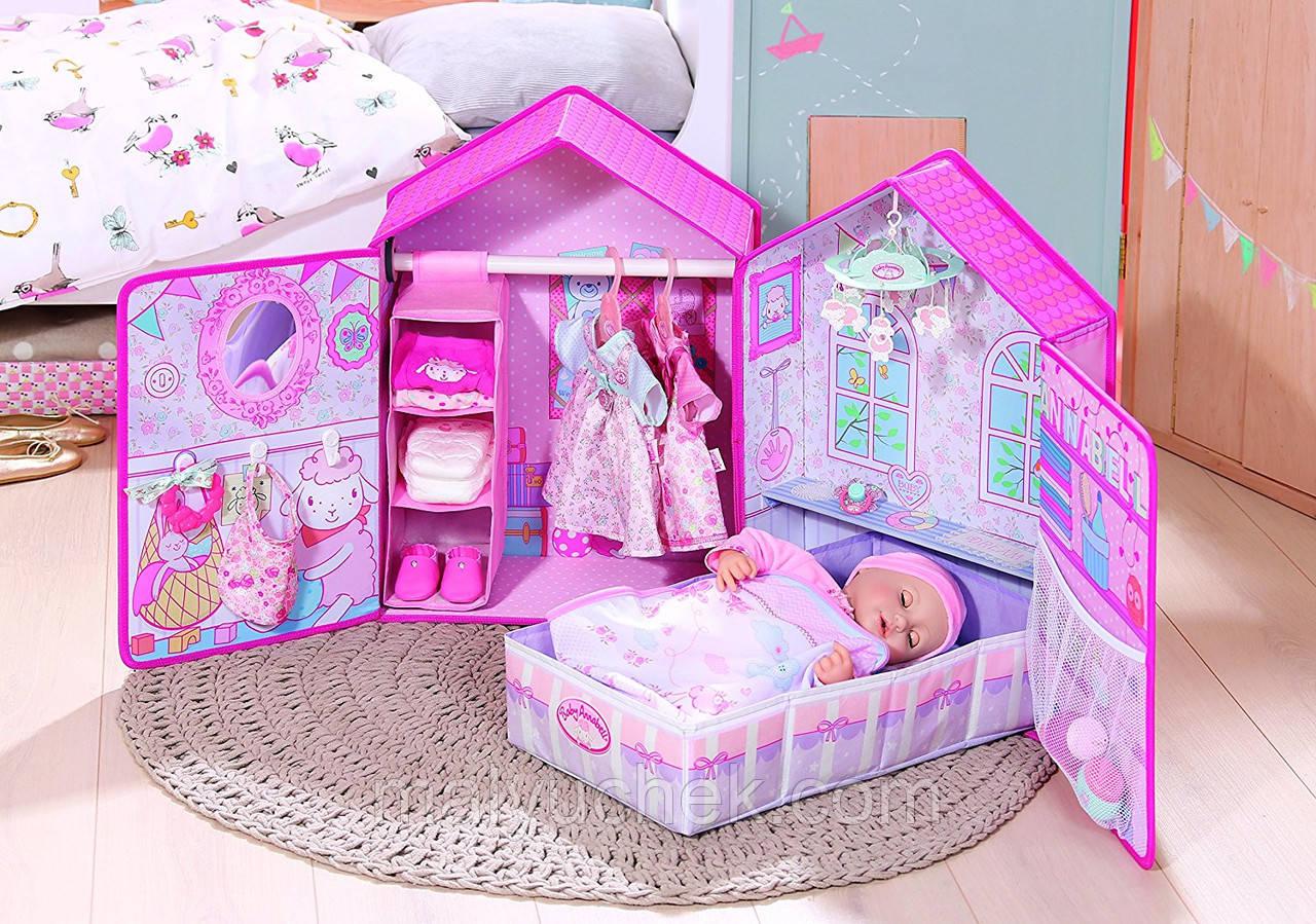 """Раскладной чемоданчик """"Спальня"""" для пупса Baby Annabell Zapf Creation 794425 НОВИНКА"""