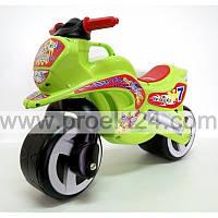 """Детская каталка """"Мотоцикл"""" салатовый 74*46см"""