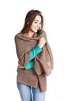 Модная вязанная женская шаль