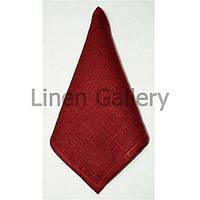 Серветка льняна бордова(45*45 см.)