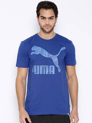 Футболка мужская стильная PUMA Stripe logo, фото 2