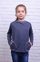 Оригинальная детская кофточка с кармашками