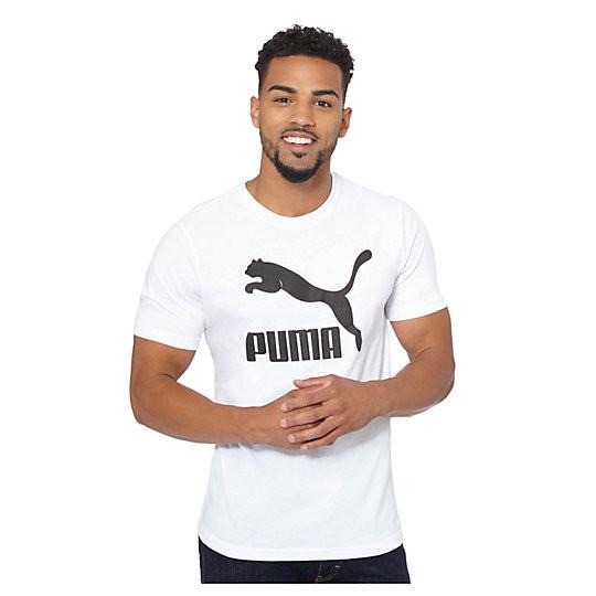 Футболка с принтом Puma logo мужская   Белая