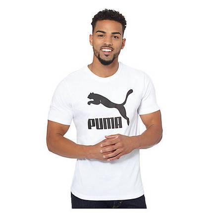 Футболка с принтом Puma logo мужская   Белая, фото 2