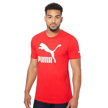 Футболка з принтом Puma чоловіча   Червона, фото 2