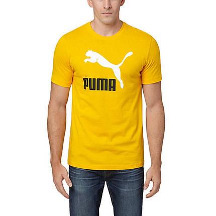 Футболка с принтом Puma logo мужская | Желтая , фото 2