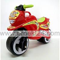 """Детская каталка """"Мотоцикл"""" красный 74*46см"""