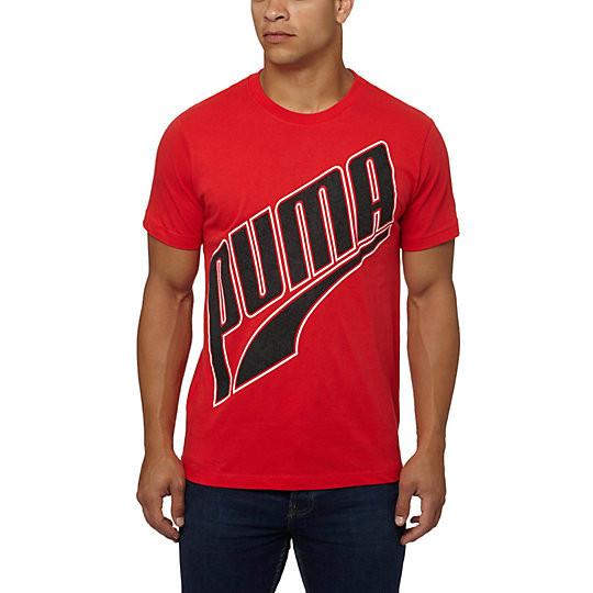 Футболка с принтом Puma Logo мужская | Красная