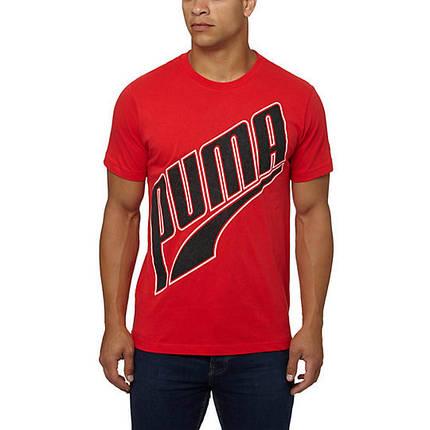Футболка с принтом Puma Logo мужская | Красная , фото 2