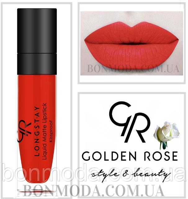 Матовая стойкая помада Golden Rose Longstay Liquid Matte Lipstick № 14
