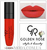 Матовая стойкая помада Golden Rose Longstay Liquid Matte Lipstick № 14, фото 1