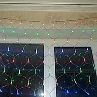 Гирлянда мульти 240 лэд ламп сетка 8 режимов