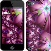 Чехол на iPod Touch 5 Розовый, Цветочная мозаика
